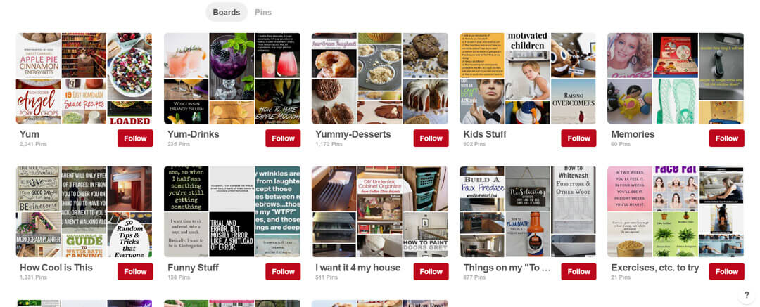 how to set up your pinterest boards