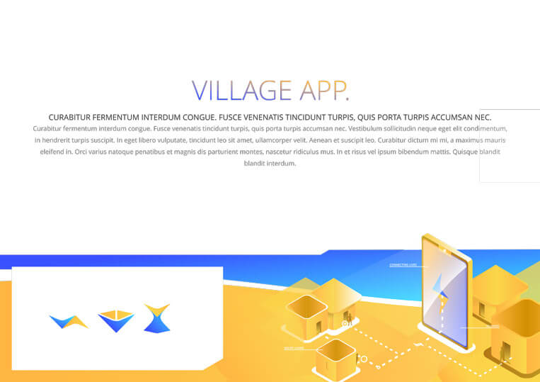 Village app graphic design
